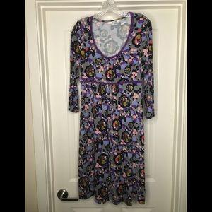 Boden Summer Party Dress! Lavender & Roses! Size 6